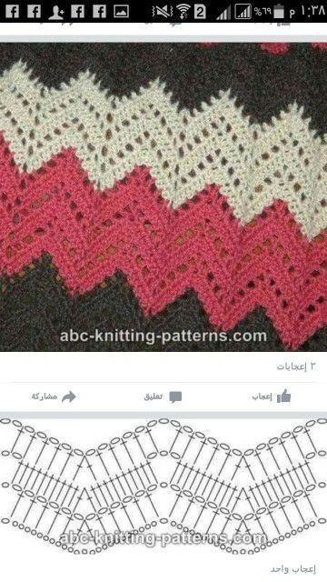 patrón manta crochet