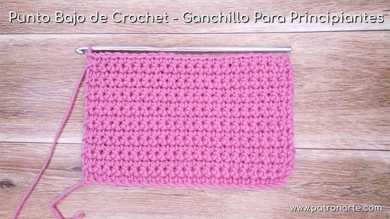 muestra punto enano crochet