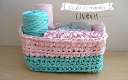 cesta hecha en crochet