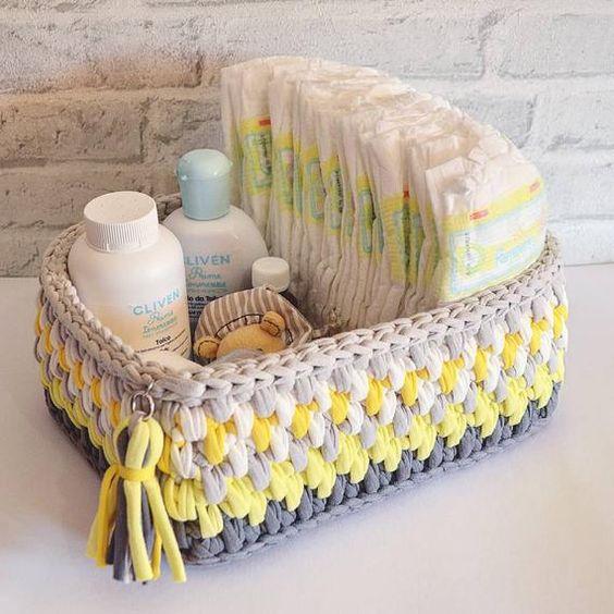 Haz tus propias cestas de ganchillo con trapillo