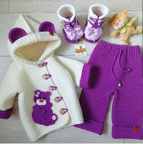 conjunto bebé crochet