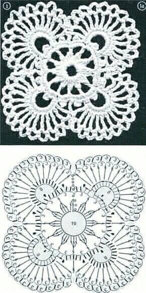 gráfico para tapete de crochet