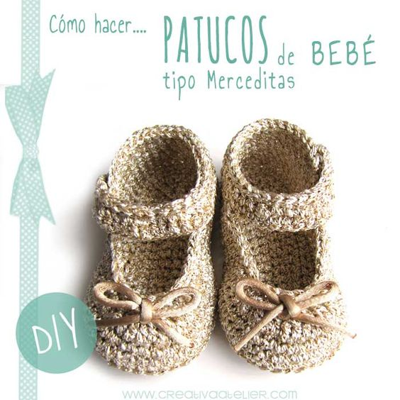 4 Tutoriales zapatitos para tu bebe