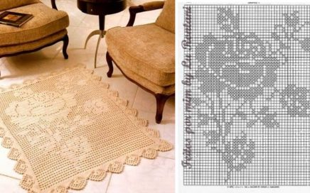 diagrama alfombra crochet