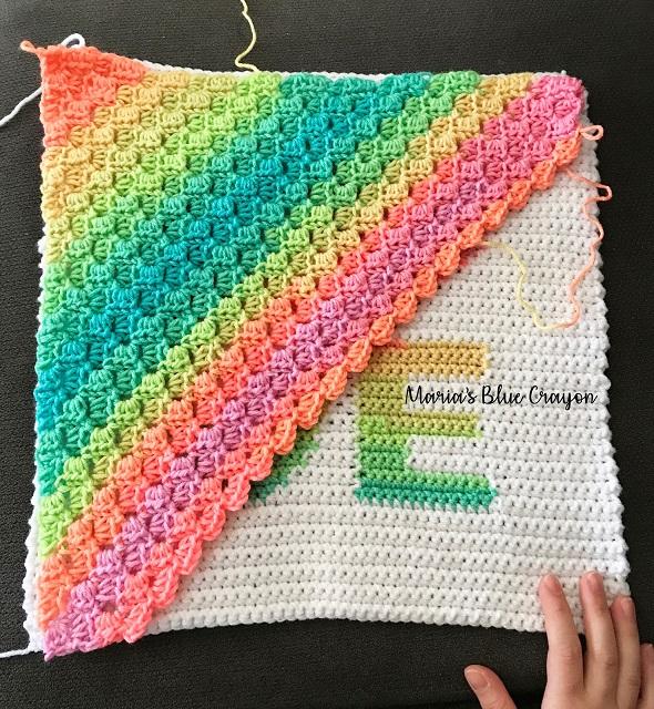 patrón cojín love crochet