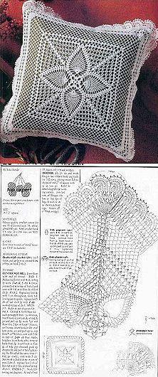 patrón cojín ganchillo