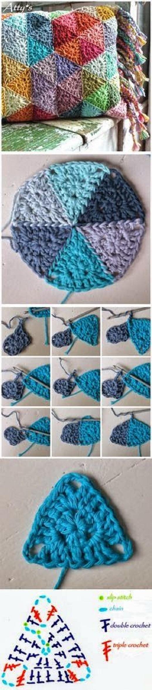 Gráficos para Cojines en crochet