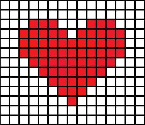 18 Corazones diagramas para Filet crochet