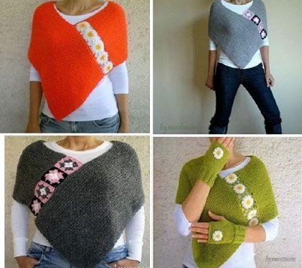 ¿Te gustan estos ponchos? ¡Ahora te puedes hacer uno!