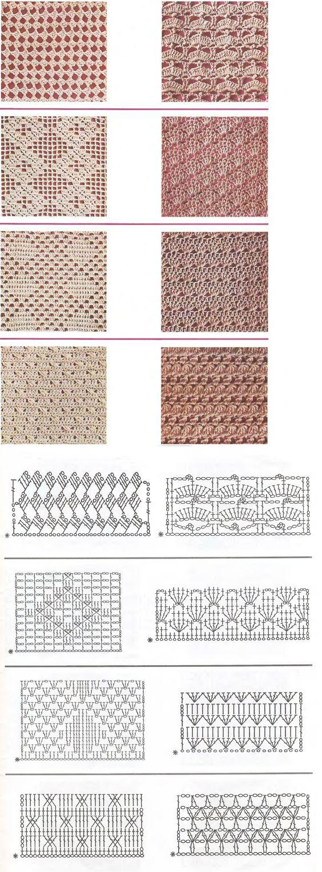 muestras y gráficos puntos crochet